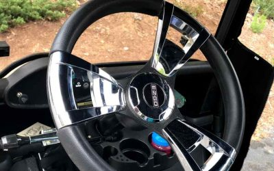 Golf Cart Steering Wheel Covers Battle – Neoprene or Leather?